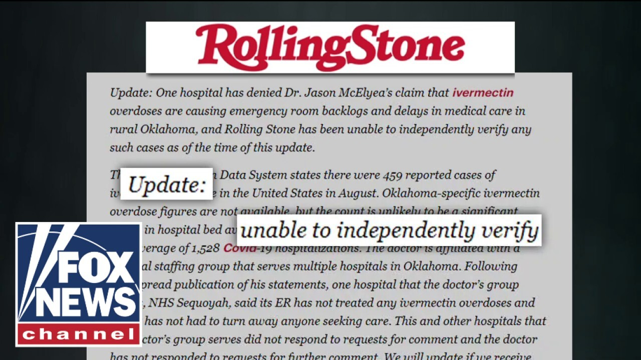 Rolling Stone slammed for spreading false story on COVID patients