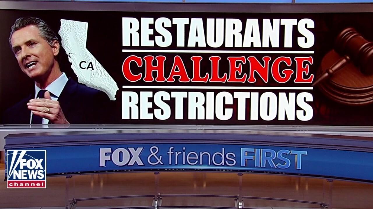 California Gov. Gavin Newsom facing lawsuits over outdoor dining ban