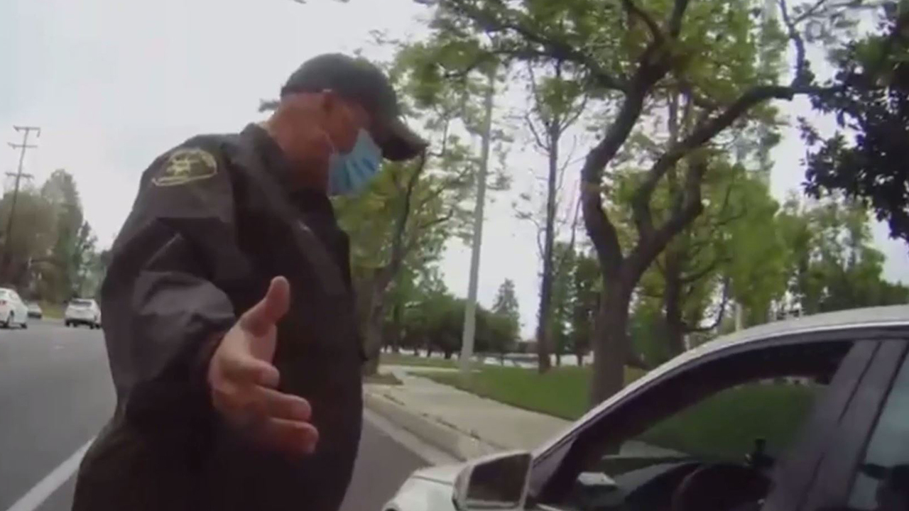 Black teacher berates Latino LA County deputy in racist rant during traffic stop