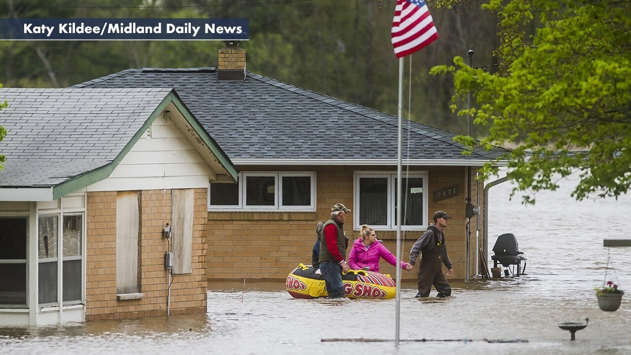 Midland, Michigan bracing for record flooding as heavy rainfall breaches dams