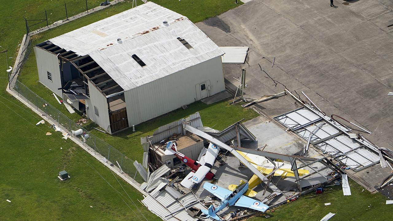 Hurricane Laura tears through Lake Charles, Louisiana
