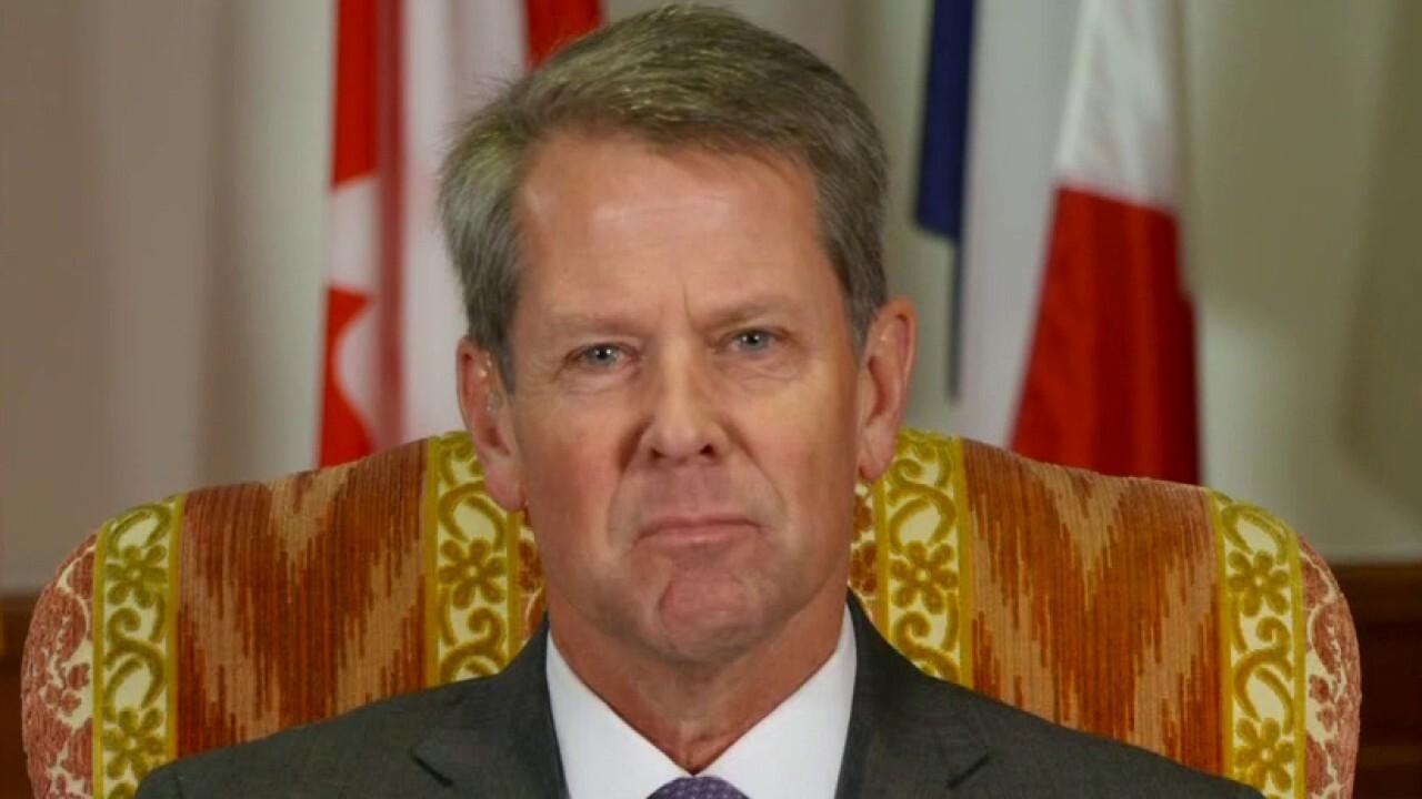 Brian Kemp criticizes the Biden administration for 'government overreach'