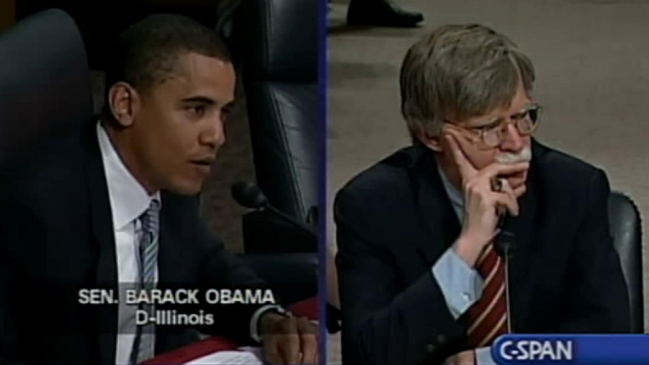 Barack Obama questions John Bolton's judgment at Senate confirmation hearing