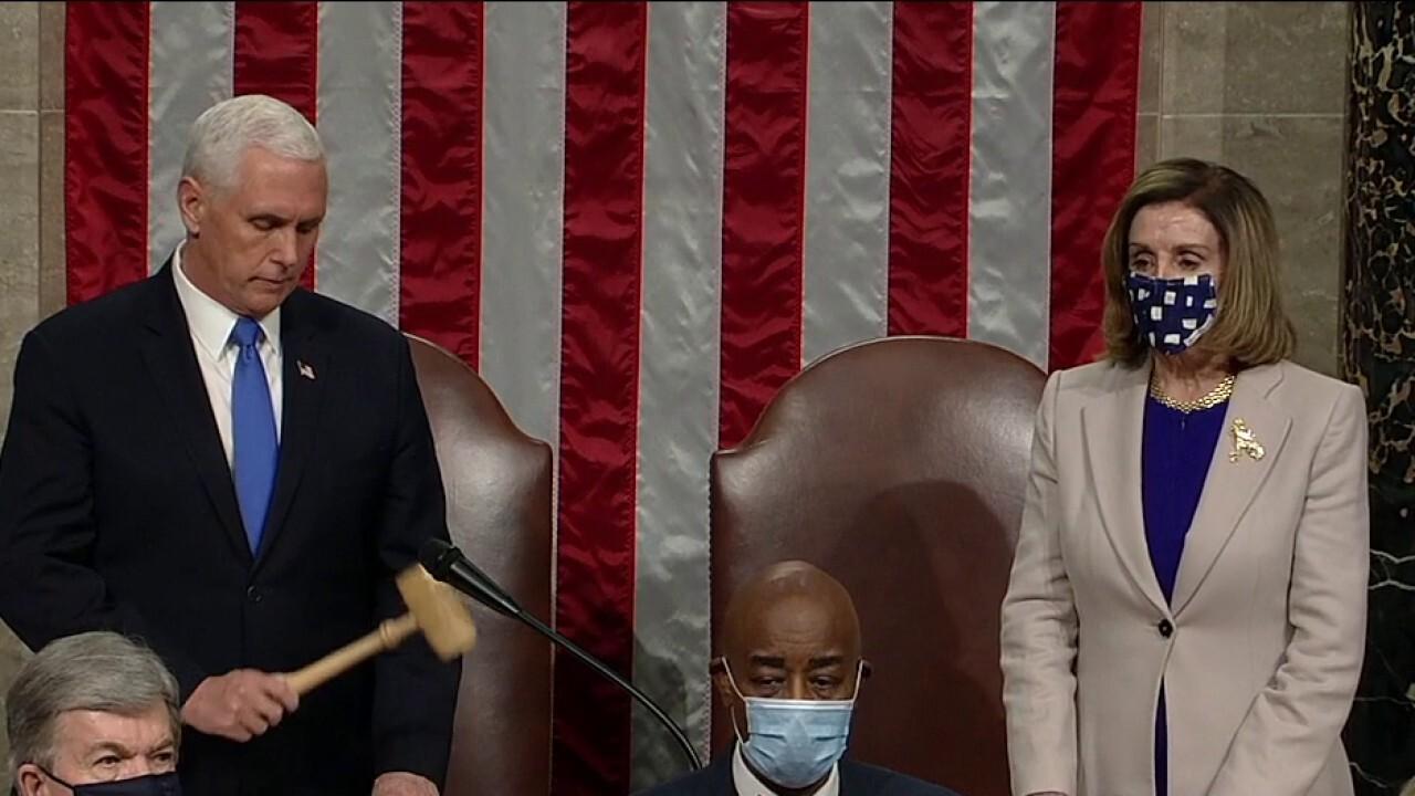 Congress certifies Joe Biden's Electoral victory