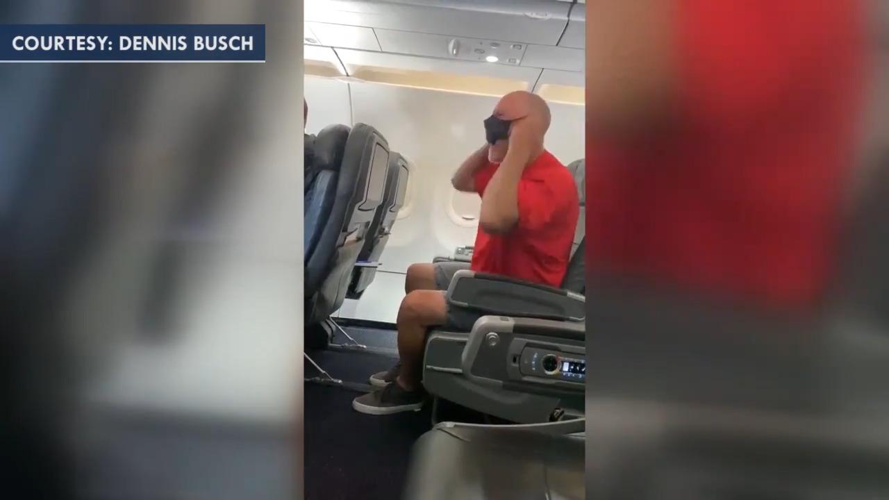 Unruly American Airlines passenger growls at flight crew, shouts 'Joe Biden, really?'