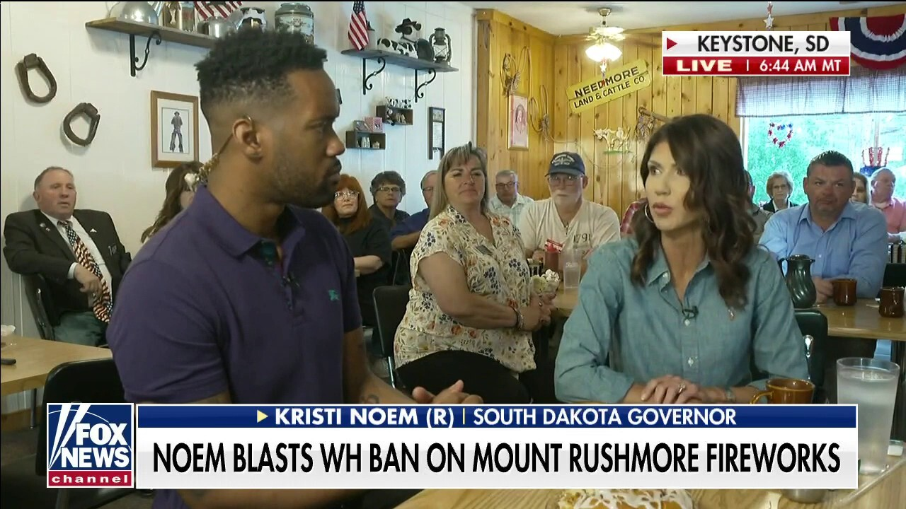 Gov. Noem says Biden admin refused to issue Mount Rushmore fireworks permits, provided no explanation