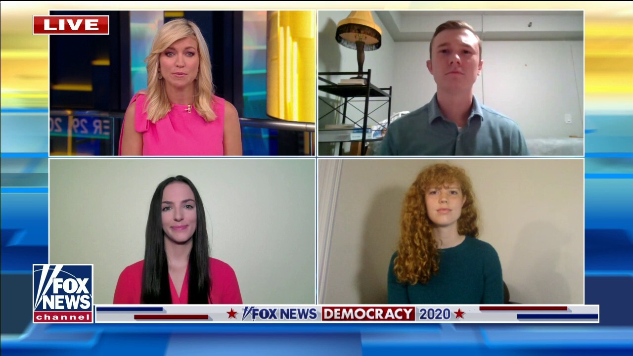 Who are young voters supporting in the 2020 election?