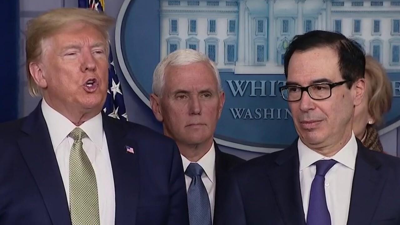 Trump administration pushing fiscal stimulus in response to coronavirus crisis