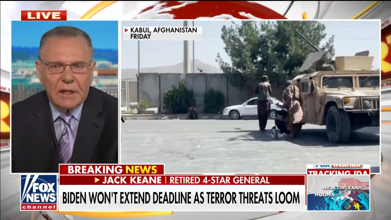 US should have 'put a finger in their chest' at security checkpoints: Gen. Keane on Taliban