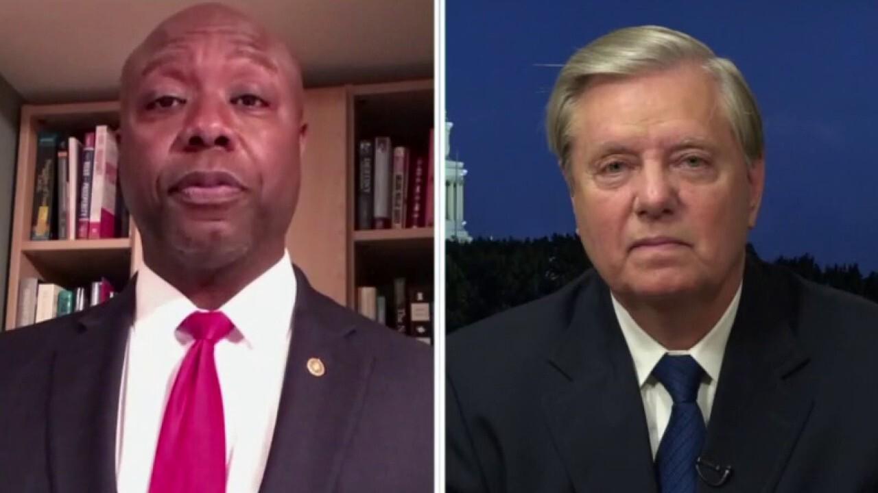 Sens. Tim Scott and Lindsey Graham on Democrats blocking GOP police reform bill