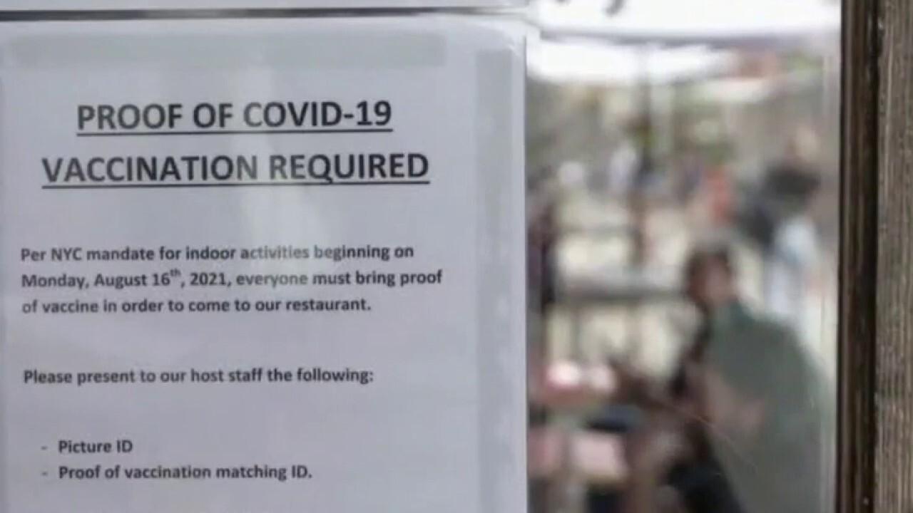 NYC restaurant owners challenge vaccine mandate