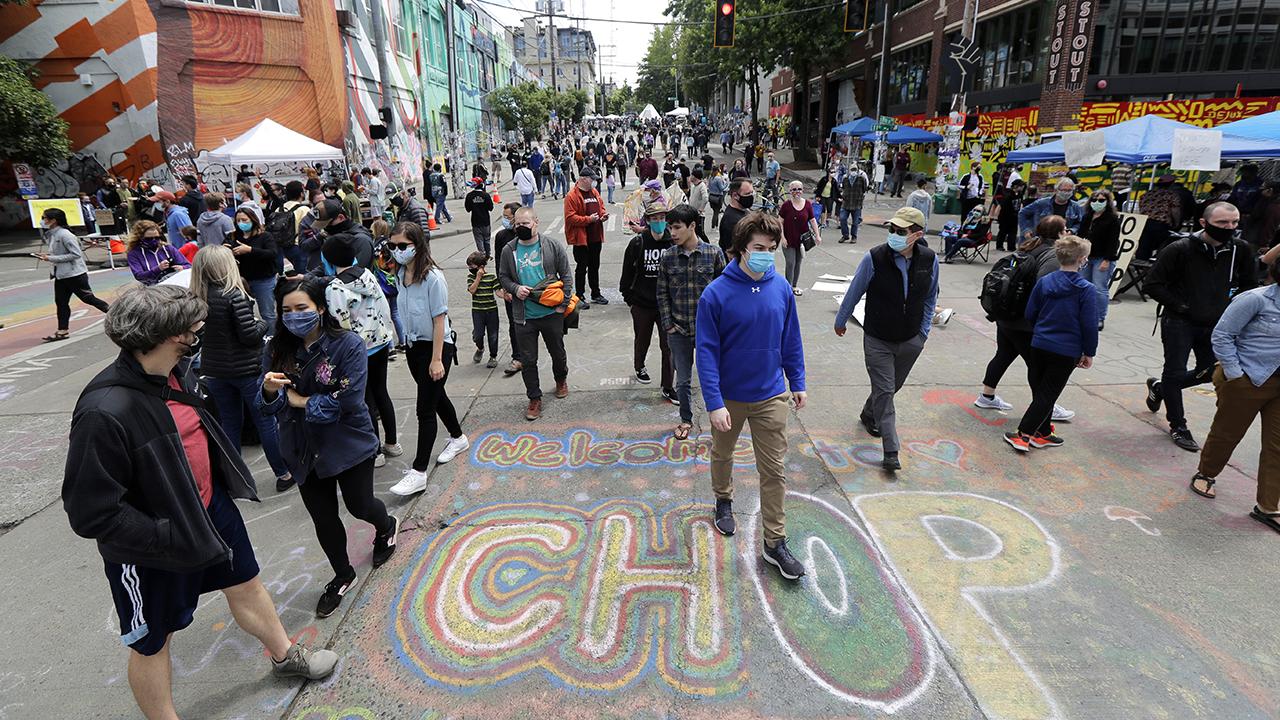 "Seattle autonomous zone renamed 'Capitol Hill Organized Protest"" or 'CHOP'"