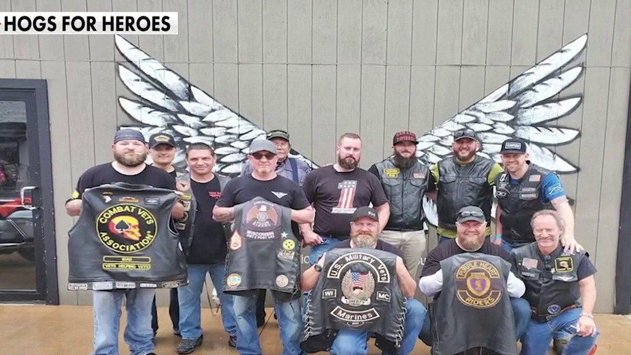 'Hogs for Heroes' gifts motorcycles to veterans