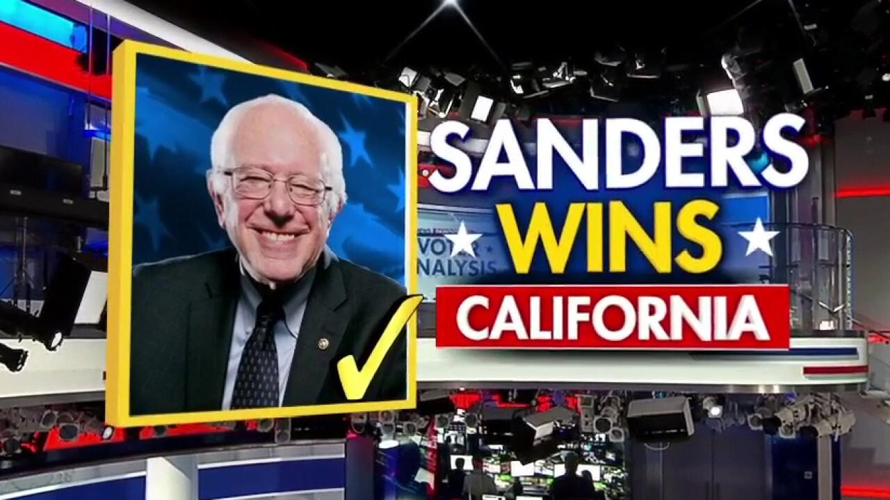 Fox News projects Bernie Sanders will win California