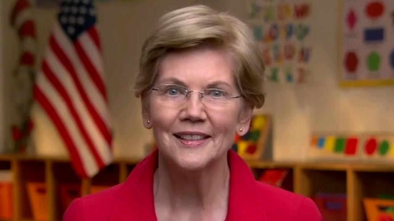 Massachusetts Sen. Elizabeth Warren speaks at the third night of the 2020 Democratic National Convention.