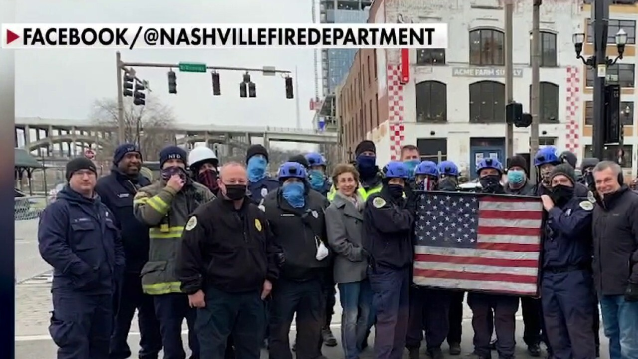 First responders recover veteran's damaged American flag lost in Nashville explosion