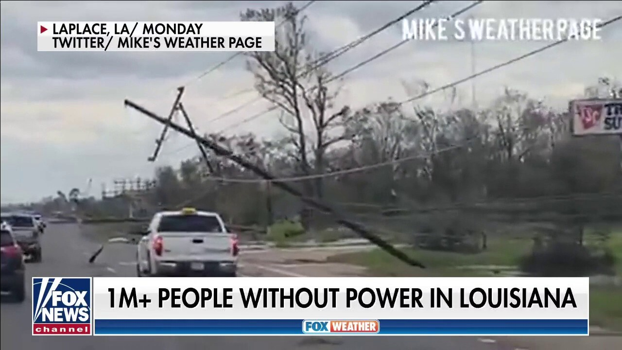 Over 1 million remain without power in Louisiana after Hurricane Ida