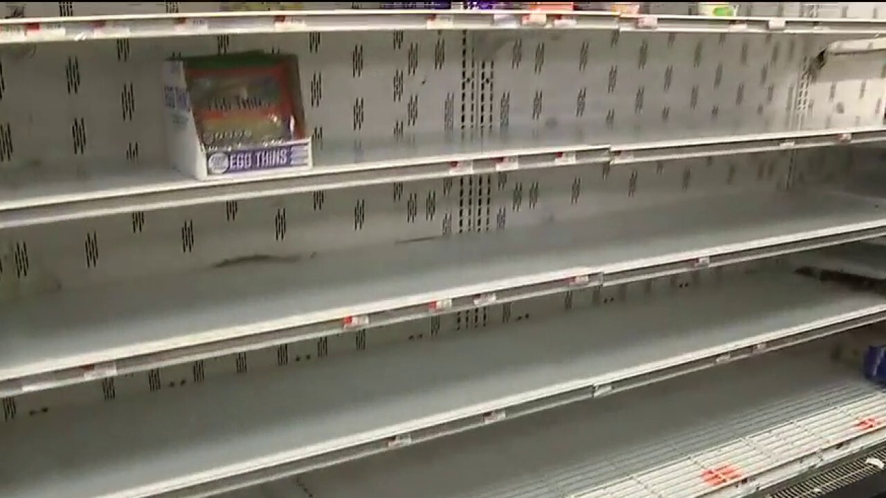 Meat, eggs, frozen foods and paper products flying off store shelves