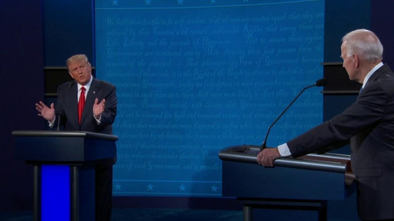Trump tells Biden: 'I ran because of you'