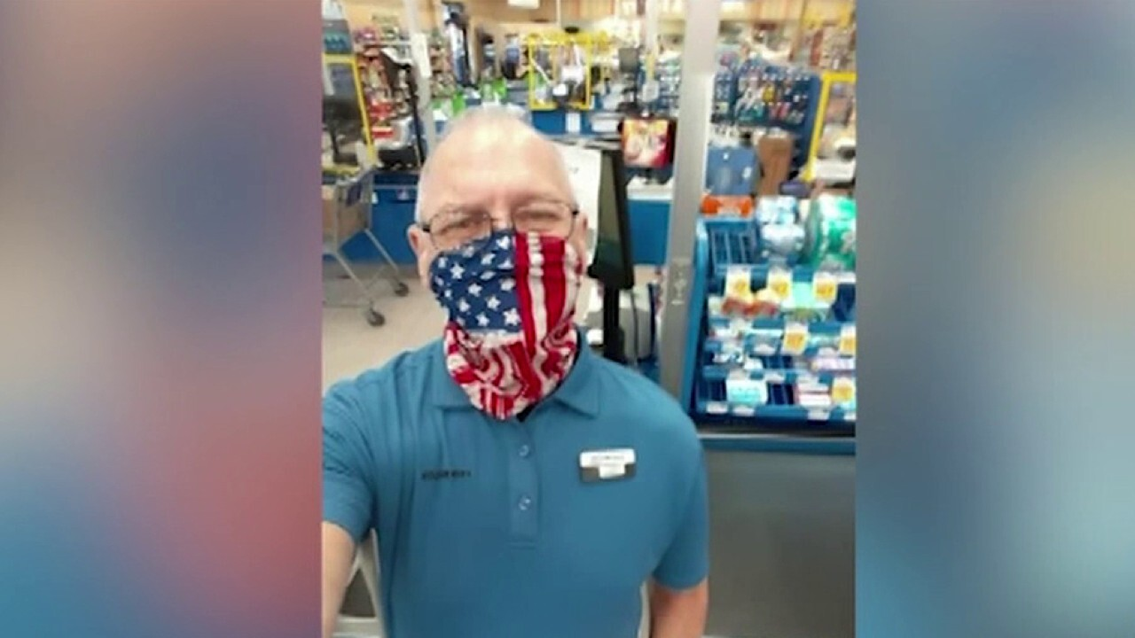 Air Force veteran quits supermarket job after he was told he can't wear an American flag mask to work