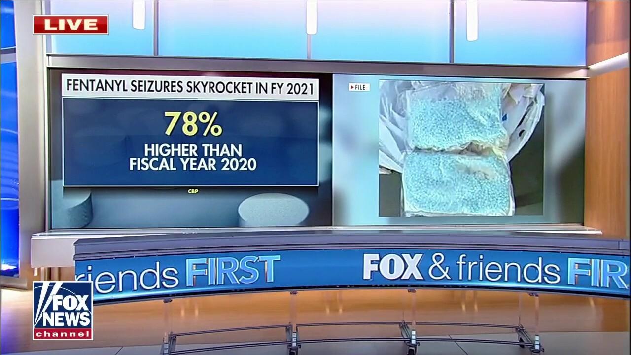 Fentanyl seizures at border skyrocket, 78 percent higher than 2020 fiscal year: CBP