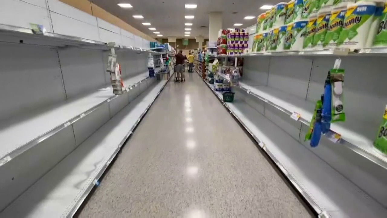 Empty shelves in South Florida supermarkets as coronavirus fears trigger run on food, supplies