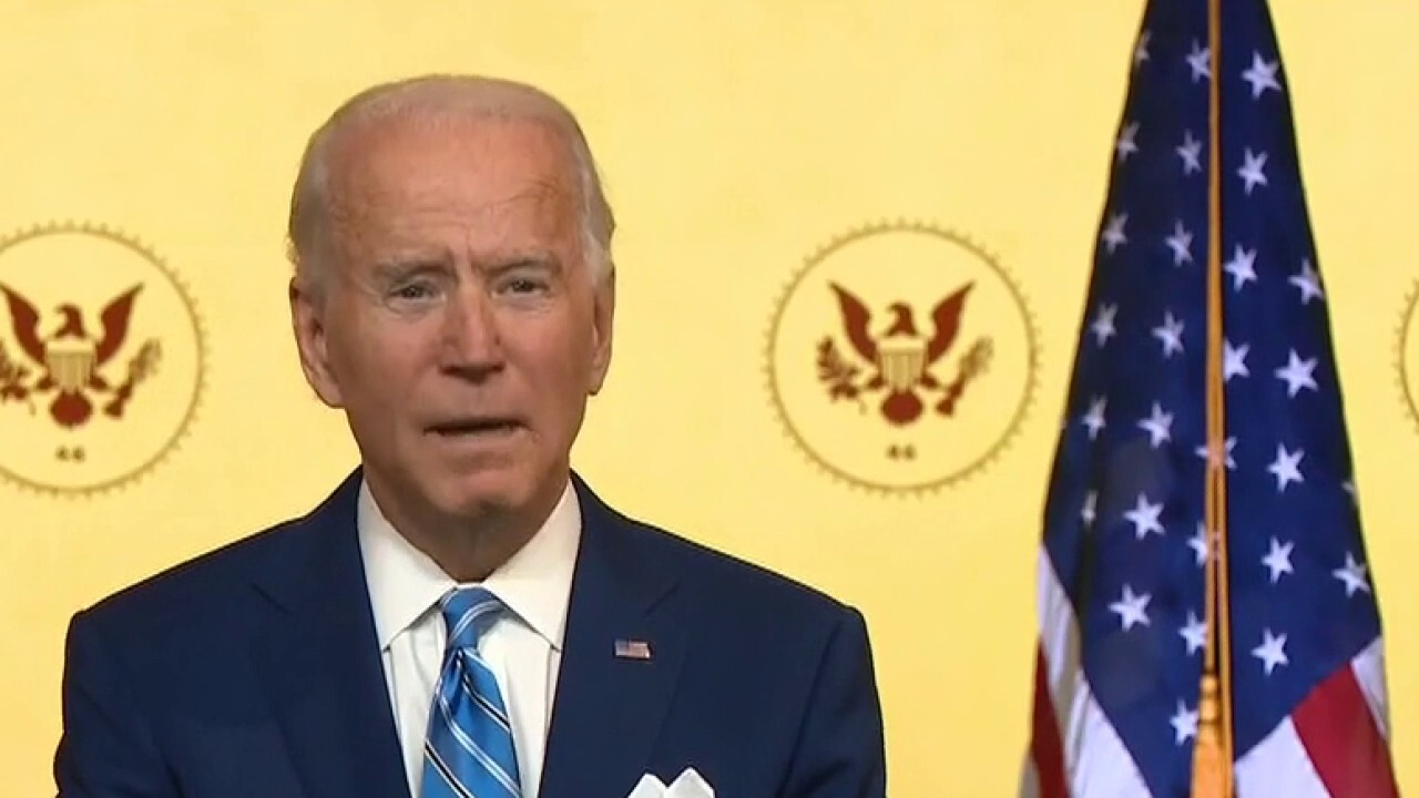 Biden delivers Thanksgiving address in effort to unify Americans