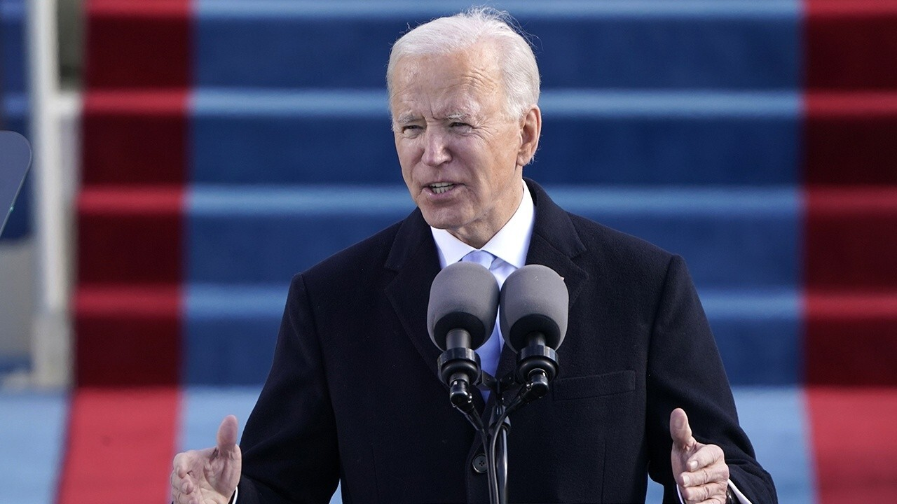 President Joe Biden calls for 'unity' during inaugural address