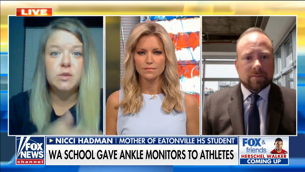 Mother slams 'horrifying' school decision to make athletes wear ankle monitors