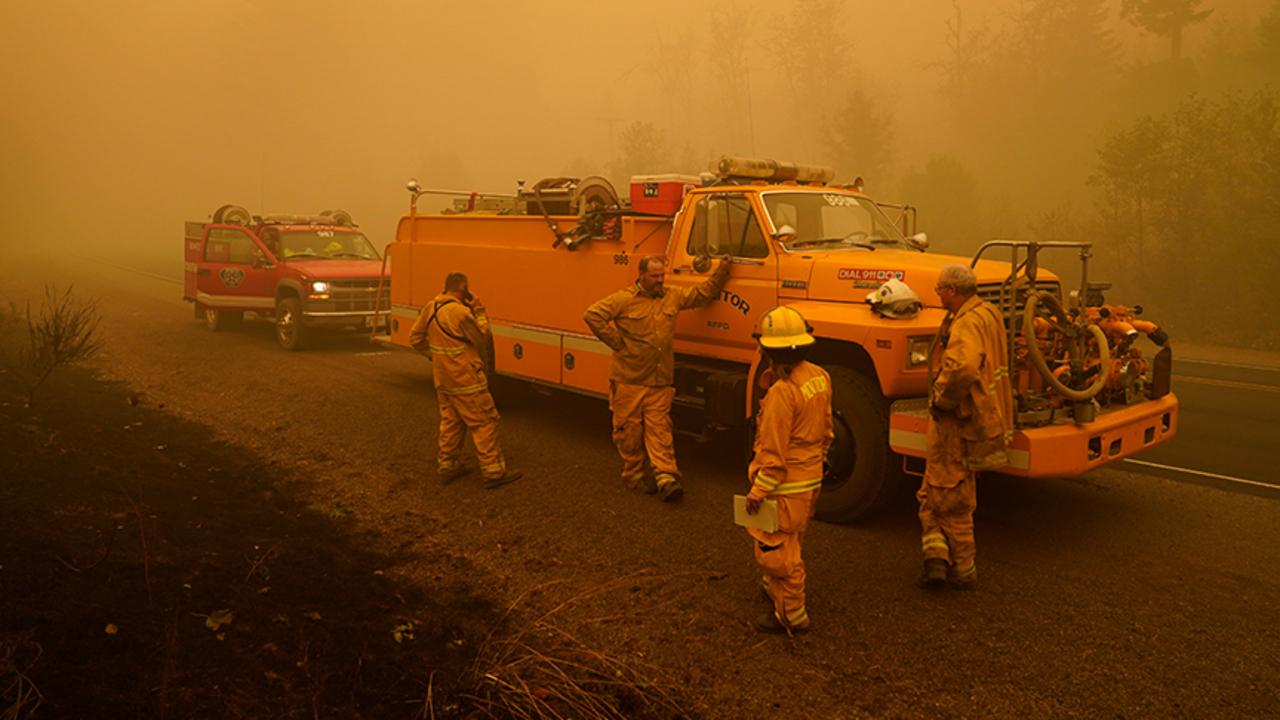 Massive wildfires spreading across West Coast
