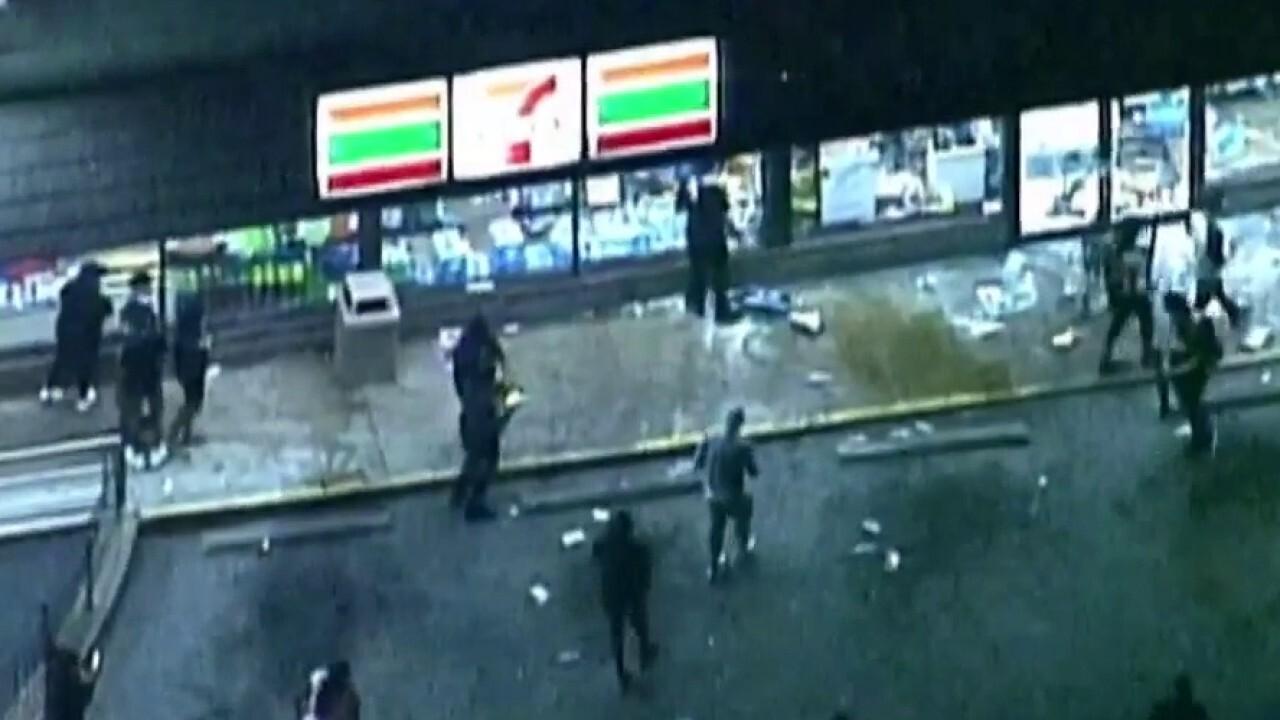 Many demonstrations over George Floyd's death turn violent after dark