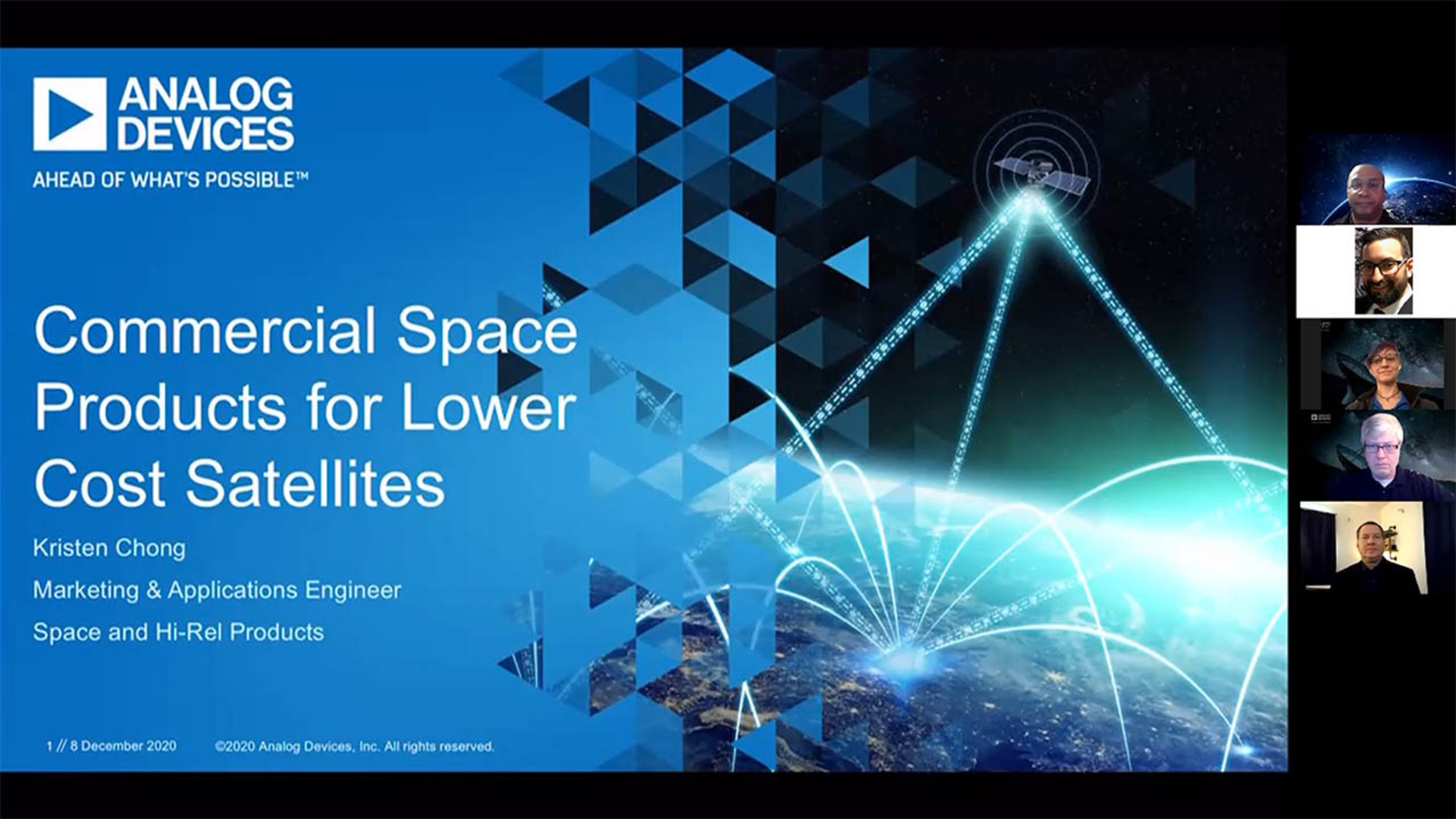 NSREC 2020: Commercial Space Products for Lower Cost Satellites