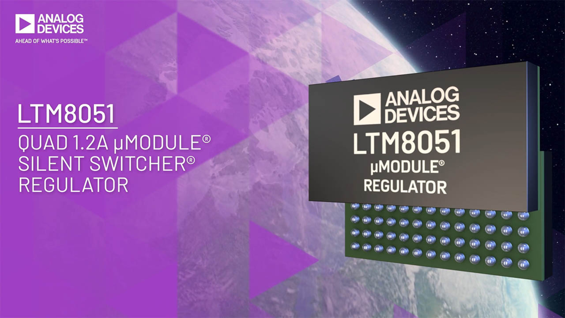 LTM8051: Silent Switcher® μModule® Regulator