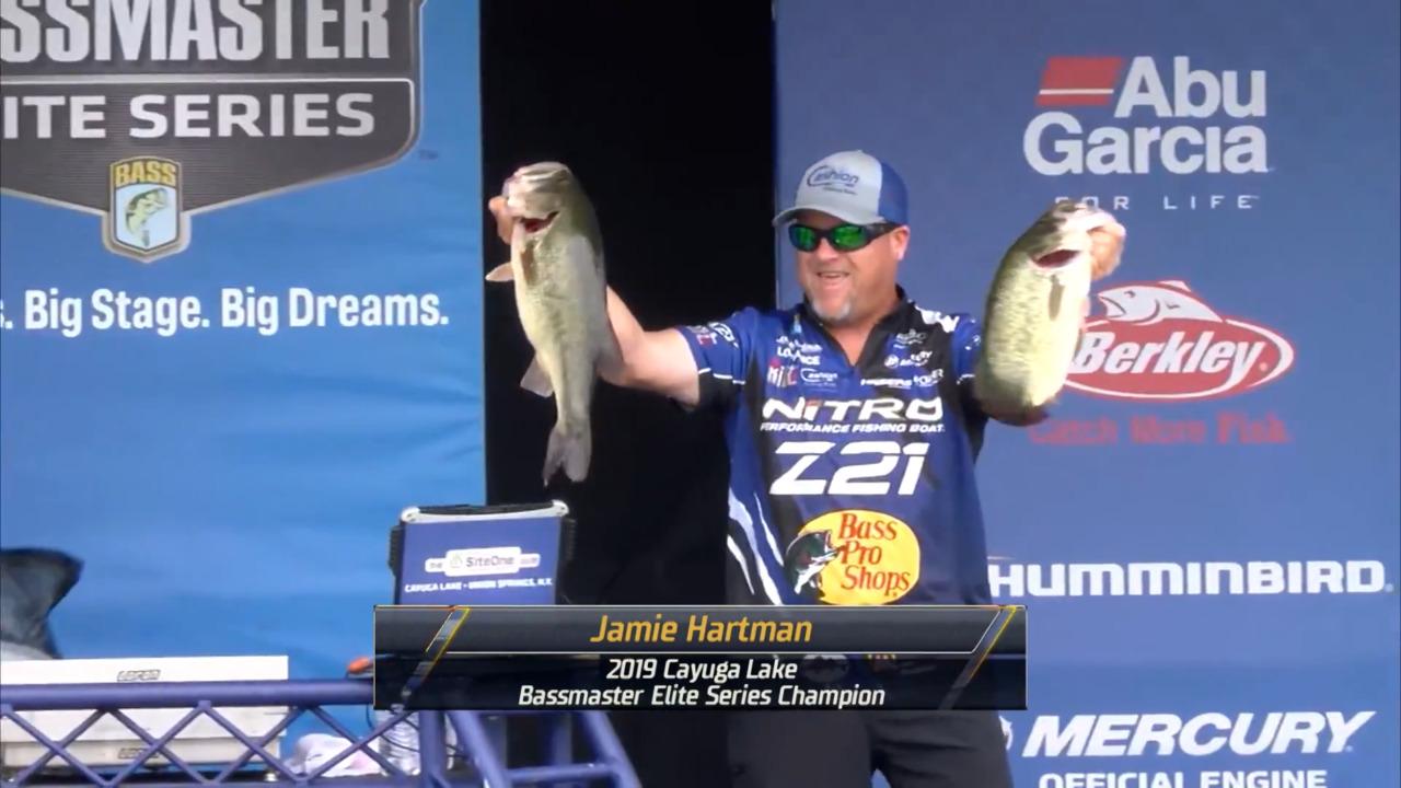 Jamie Hartman wins Bassmaster Elite at Cayuga Lake
