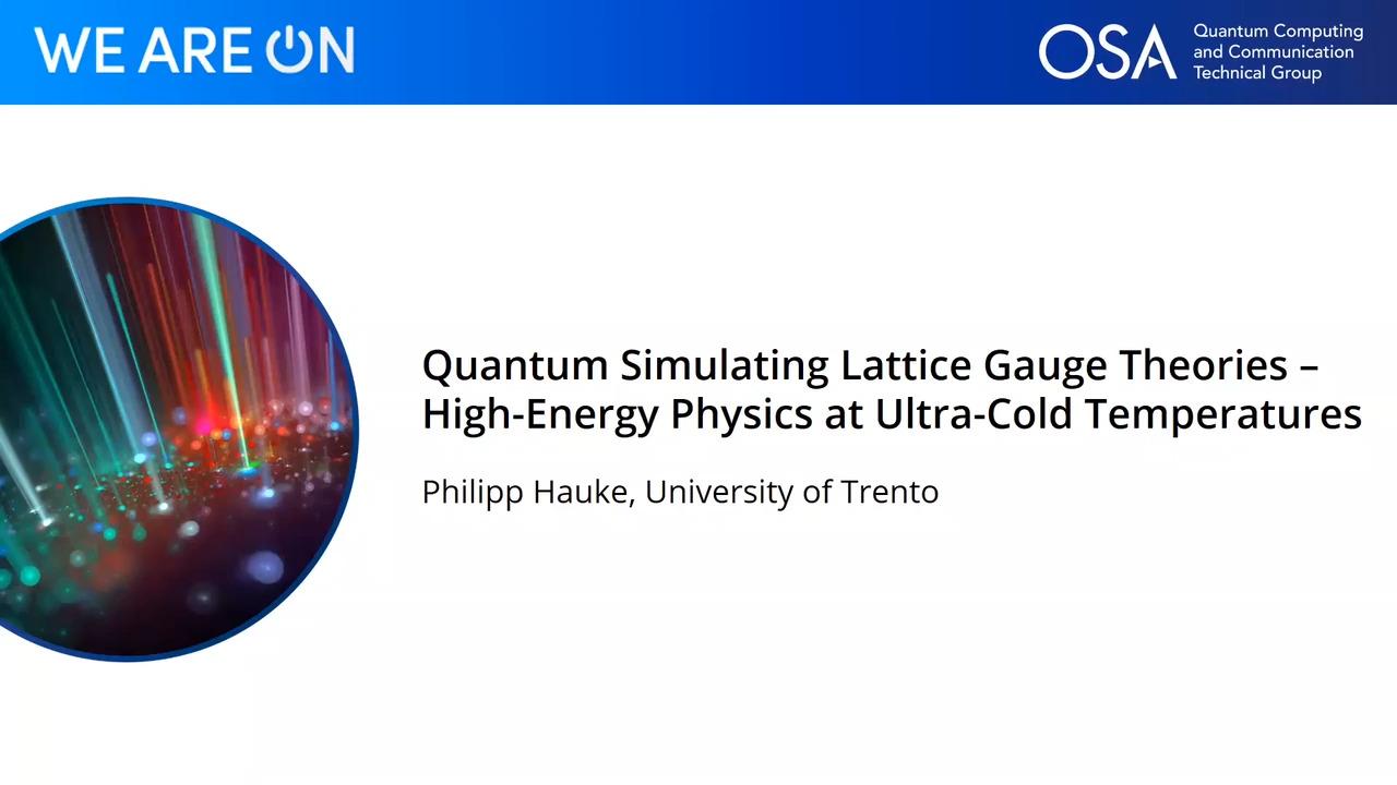 Quantum Simulating Lattice Gauge Theories – High-Energy Physics at Ultra-Cold Temperatures
