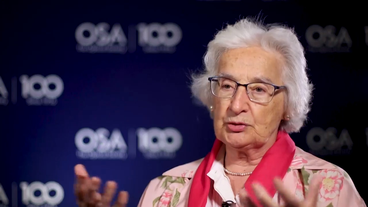 Anna Consortini shares a story about OSA's 80th Anniversary--OSA Stories