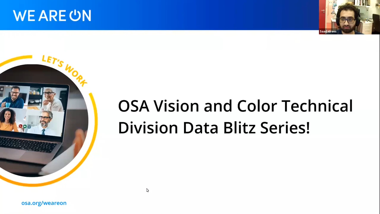 Vision and Color Technical Division Data Blitz 29 July 2020