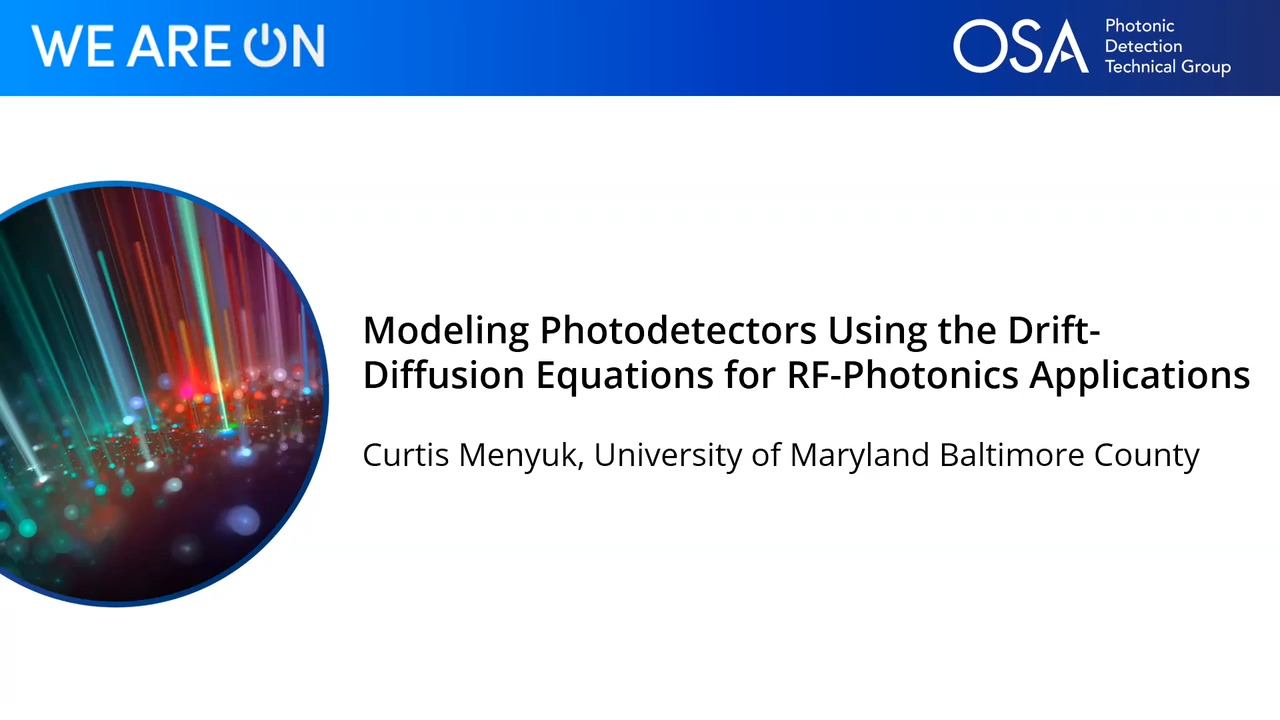 Modeling Photodetectors Using the Drift-Diffusion Equations for RF-Photonics Applications