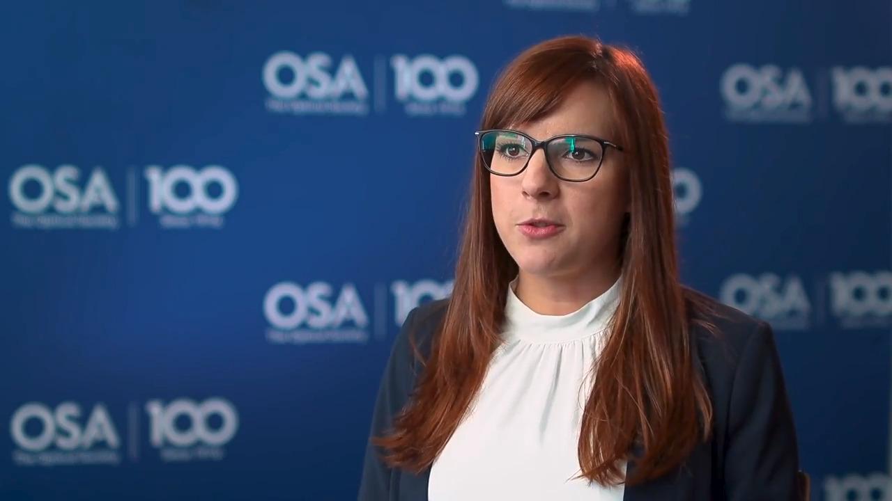 Senta Jantzen talks about her work in sensors--OSA Stories