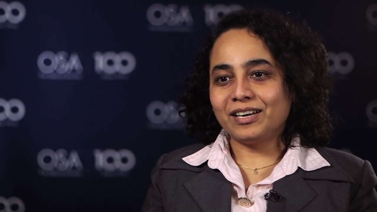 Arti Agrawal shares why she went into optics--OSA Stories