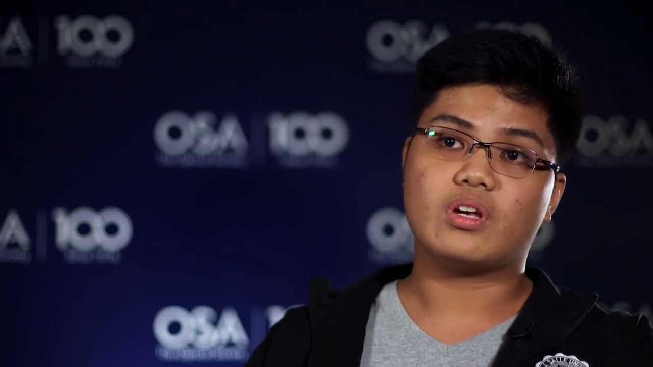 Francis Dela Cruz discusses developing a device that could image the heart--OSA Stories
