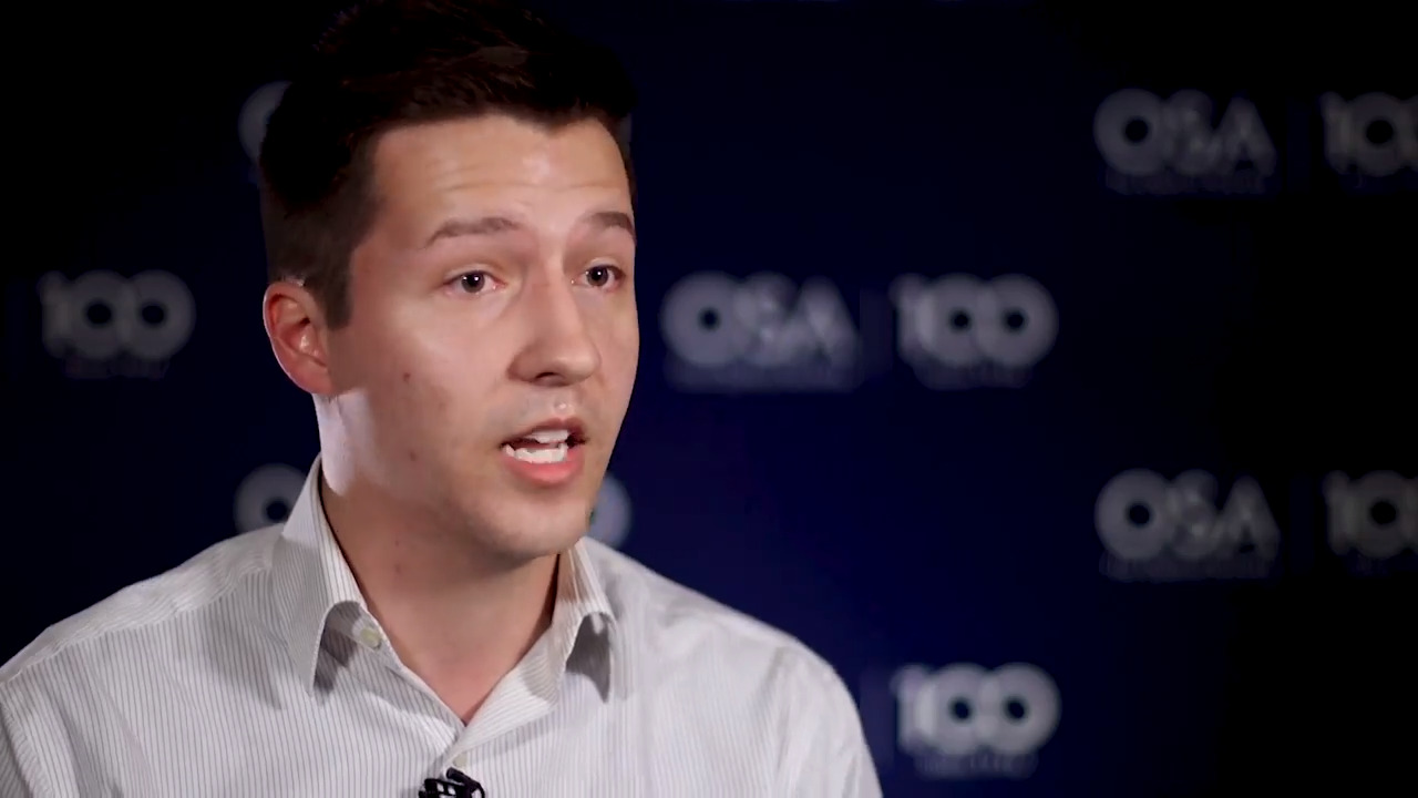 Austin Howes talks about being a member of a Student Chapter--OSA Stories