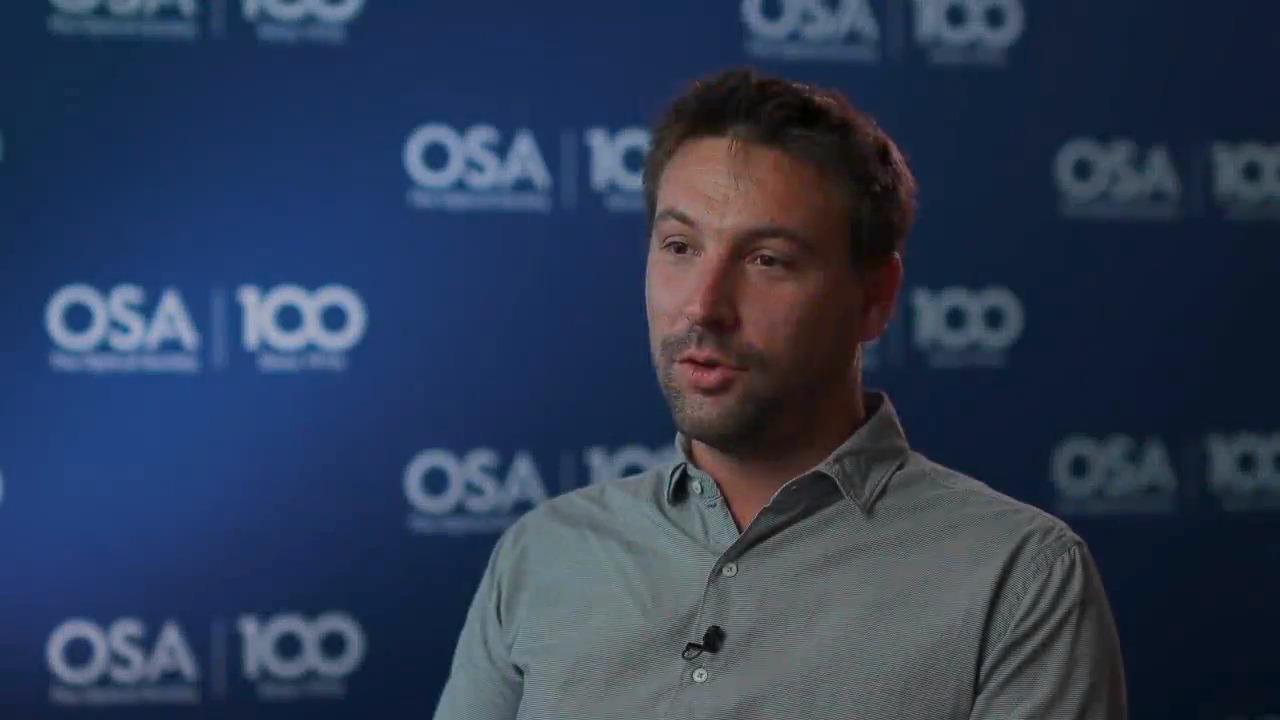 Benjamin Wetzel discusses his research--OSA Stories
