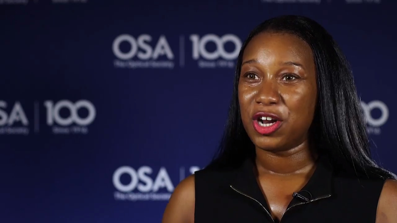 Alexis Bullock shares the goals for her research--OSA Stories