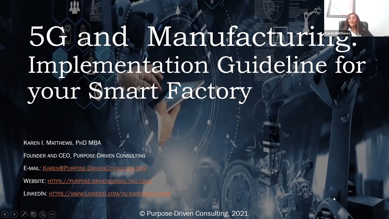 5G and Manufacturing: Implementation Guideline for your Smart Factory