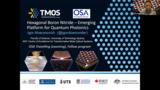 OSA Fellow Lecture: Hexagonal Boron Nitride – Emerging Platform for Quantum Photonics