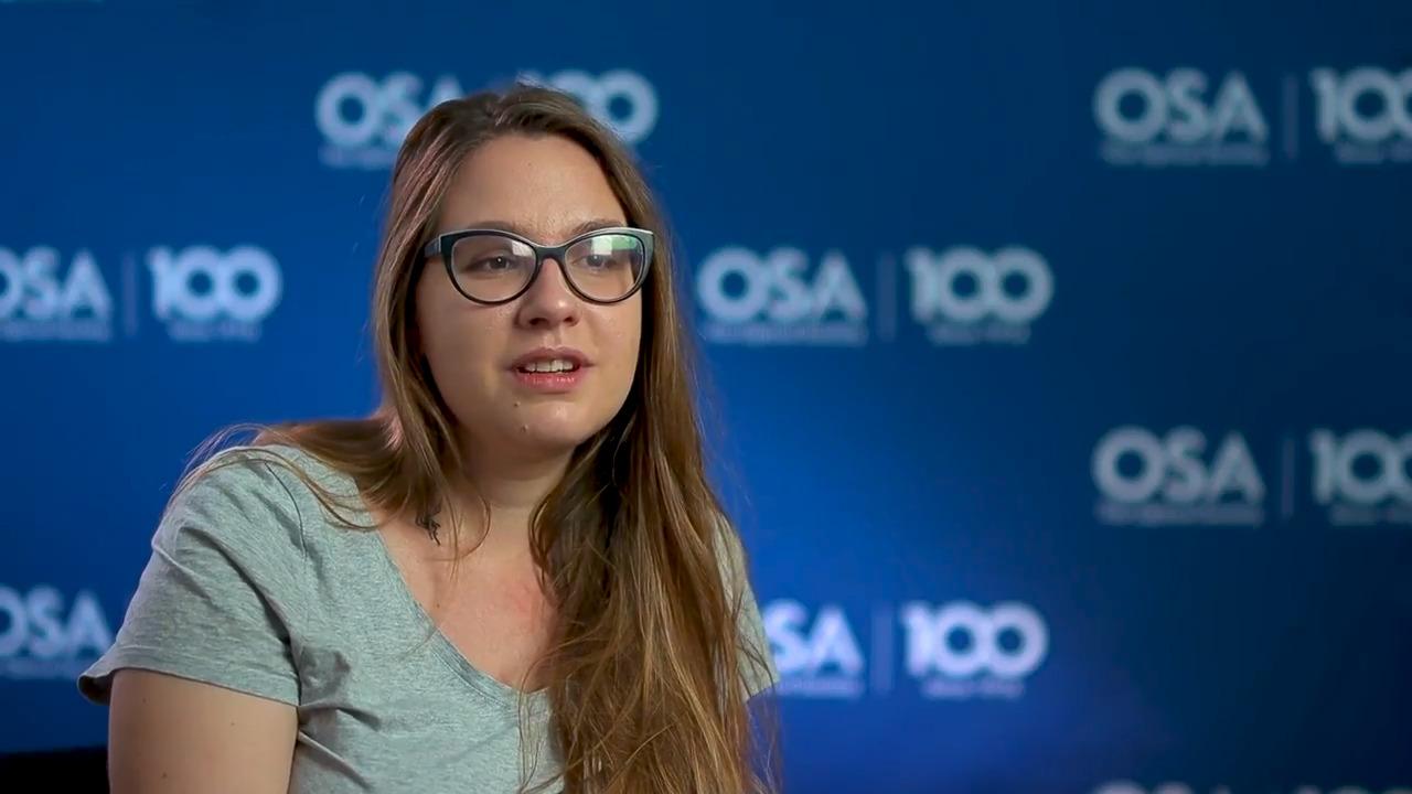 Anastasia Vasylchenkova talks about why she chose optics and photonics--OSA Stories