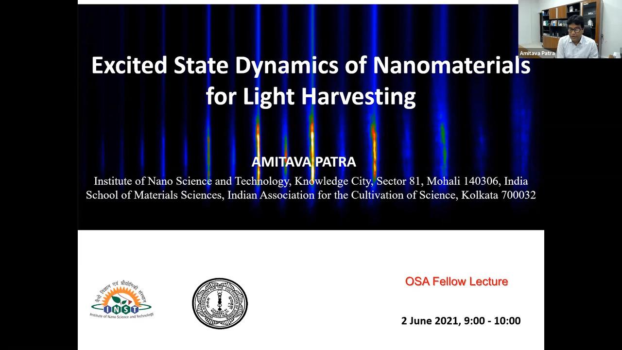 OSA Fellow Lecture: Excited State Dynamics of Nanomaterials for Light Harvesting