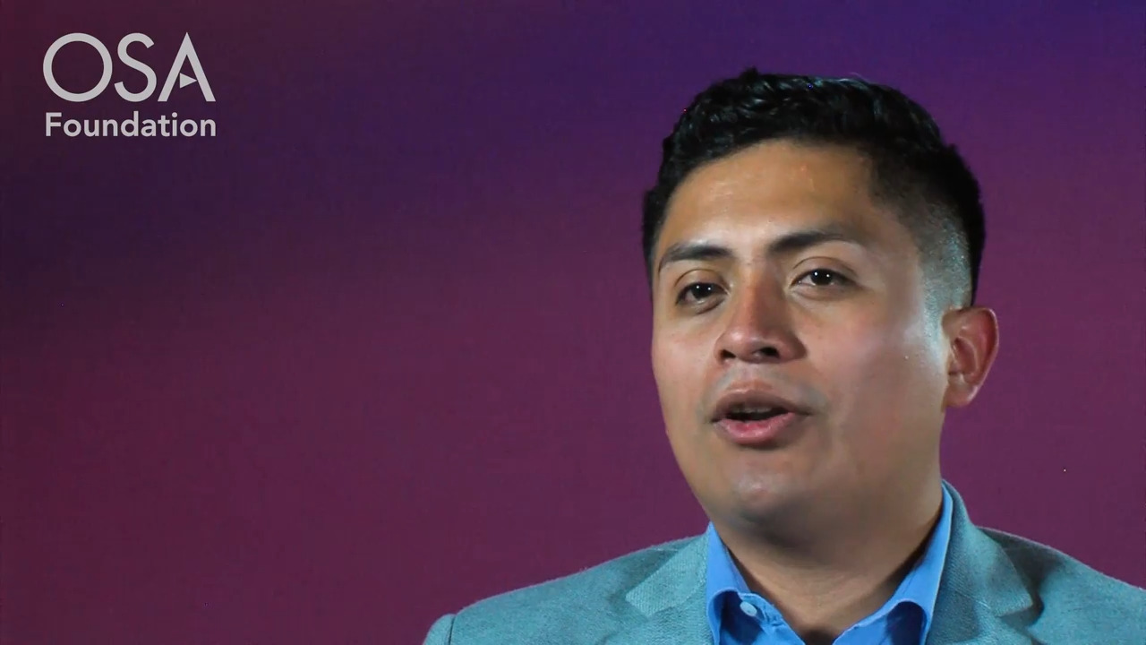 Juan Carlos Alvarado Zacarias talks about why he attended the OSA Career Accelerator--OSA Stories