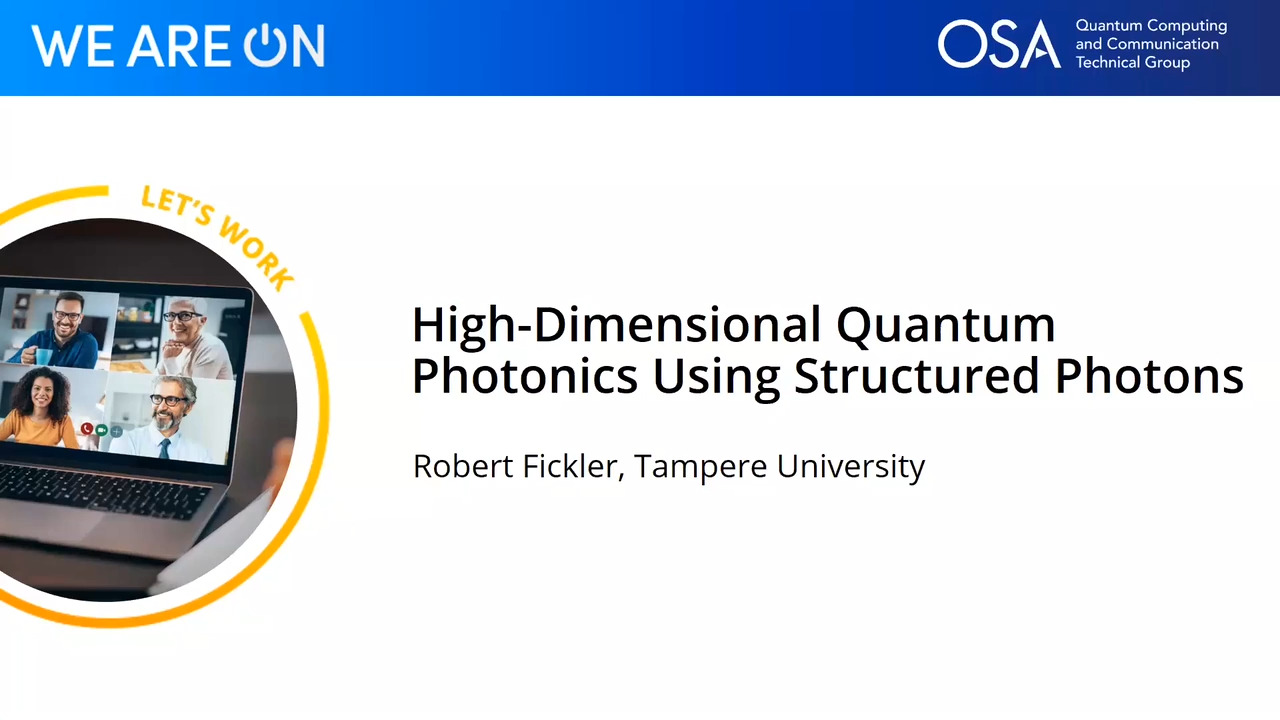 High-Dimensional Quantum Photonics Using Structured Photons